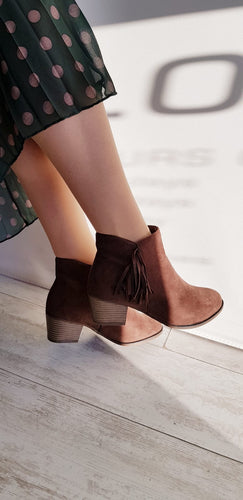 Tan soft ankle boot