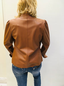 Vegan leather shirt
