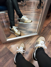Load image into Gallery viewer, Black & Gold Sneaker
