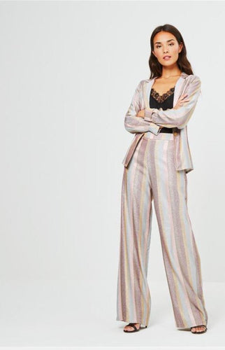 Pastel striped tailored pant
