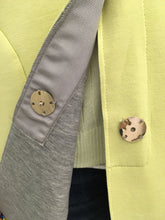 Load image into Gallery viewer, Soft Pale yellow  / Grey Spring Coat