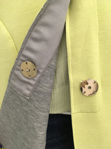 Soft Pale yellow  / Grey Spring Coat