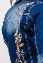 Load image into Gallery viewer, Embroidered Denim Jacket