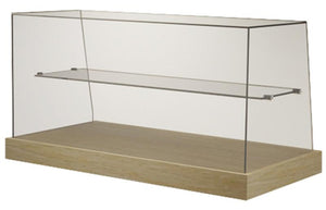 VICSQS - Cake Display - Square Glass with Mid-shelf