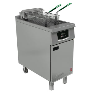E402  - Single Pan, Twin Basket Fryer without filtration