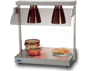 DL - Stainless steel top - two heat lamps