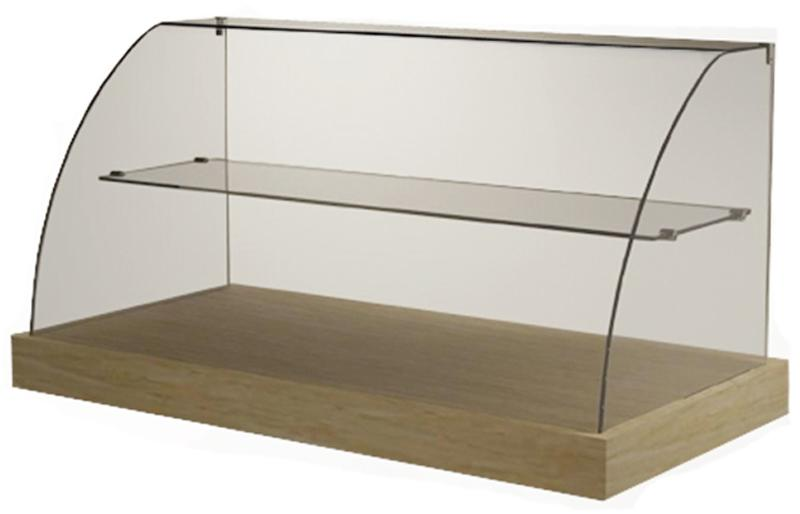 VICS - Cake Display - Curved Glass with Mid-shelf