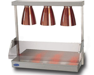 TL - Stainless steel top - three heat lamps