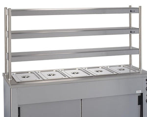 KS3T - Kitchen servery overshelf three tier