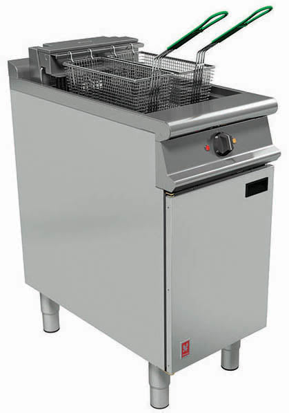 E3840F - Single Pan, Twin Basket Fryer with Filtration