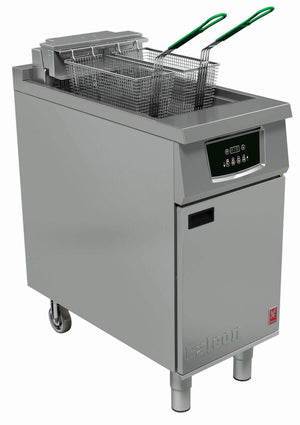 E402F - Single Pan, Twin Basket Fryer, Programmable