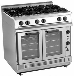 G2102 - Six Burner Open Top Convection Oven Range