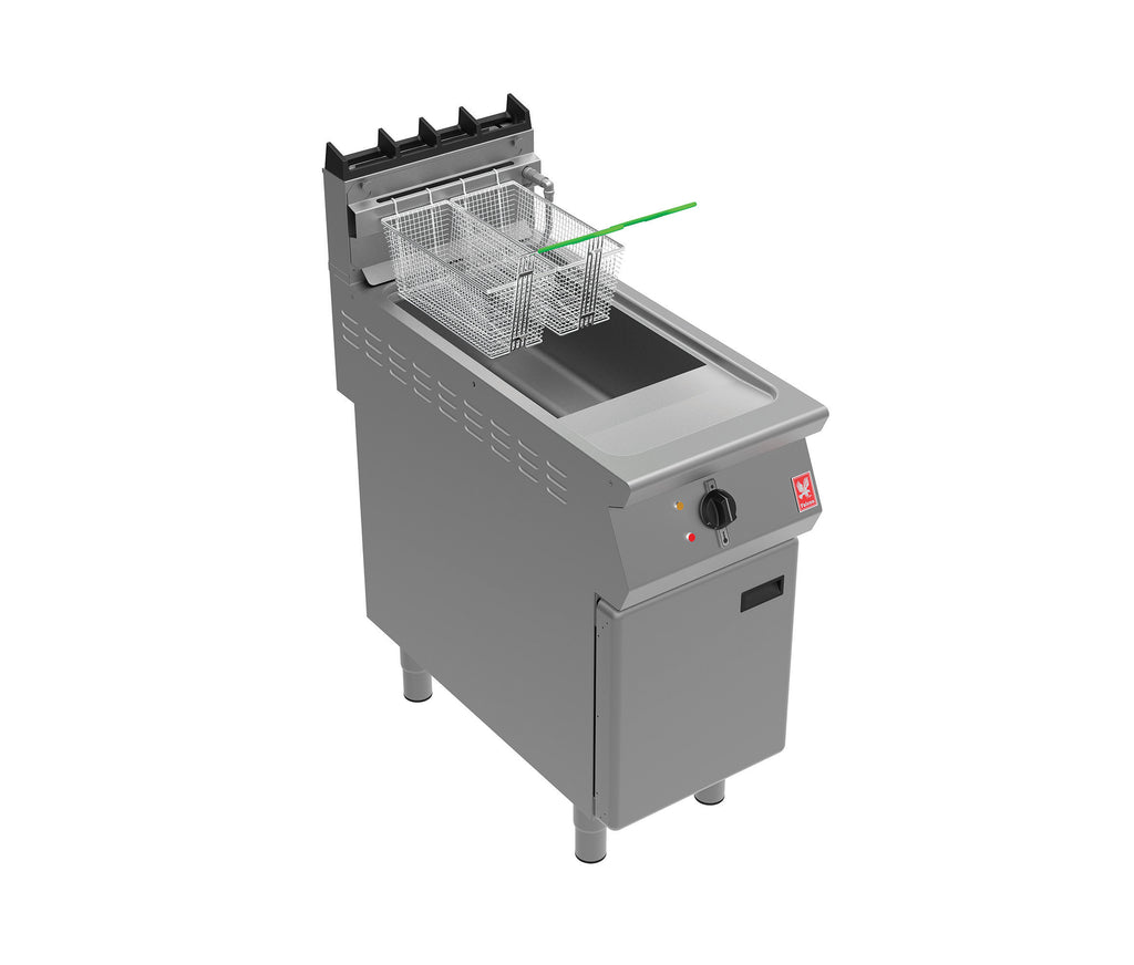 G9341F - Single Pan, Twin Basket Gas Fryer with In-Built Filtration
