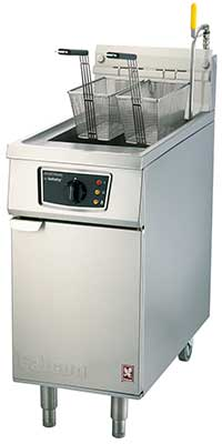 E422  - Twin Pan, Twin Basket Fryer - Programmable without filtration