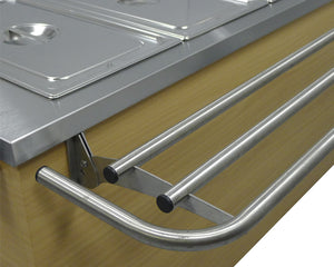 TSAC - Tray slide 3 bar 38mm tube curved