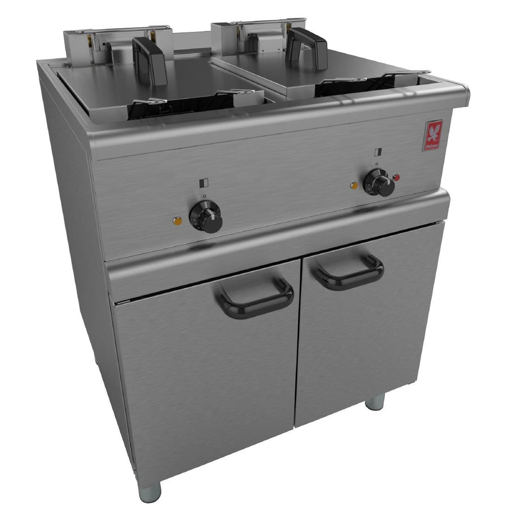 E350/37 - Freestanding Twin Pan, Four Basket Fryer