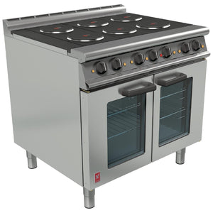 E3101POTC - Six Hotplate Fan-Assister Pressed Oven Range