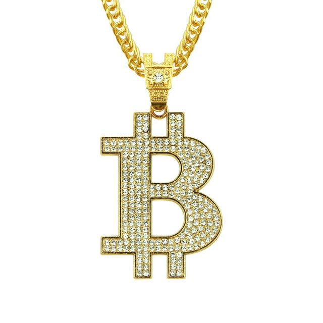 Crystal Bitcoin Necklace