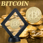 Gold Plated Bitcoin w. Stand