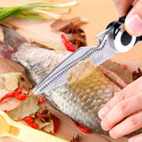 Turata heavy duty kitchen scissors polishing fish