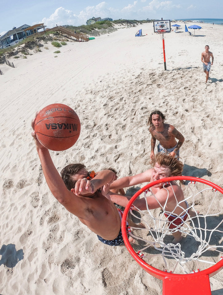 A big fan of Uball dunks on the beach!