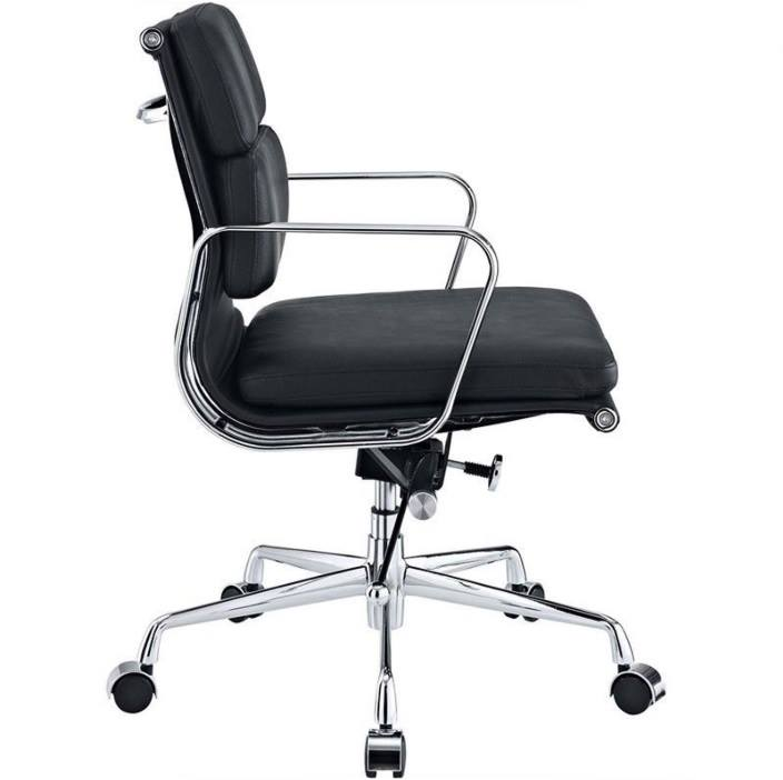 Eames Softpad Office Chair Black Leather Replica Low Back Decomica