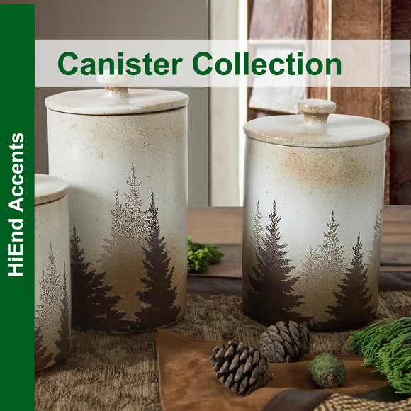 Canister Stoneware Collection by HiEnd Accents
