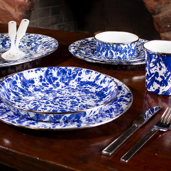 Cobalt Blue Swirl Enamelware Collection by Golden Rabbit
