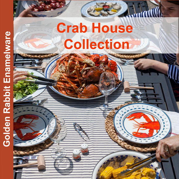 Crab House Collection Enamelware by Golden Rabbit