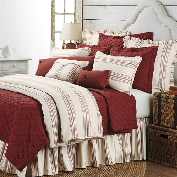 Prescott Red Bedding Collection by HiEnd Accents