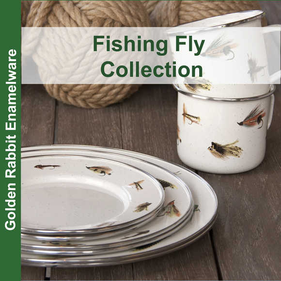 Fishing Fly Enamelware Collection by Golden Rabbit