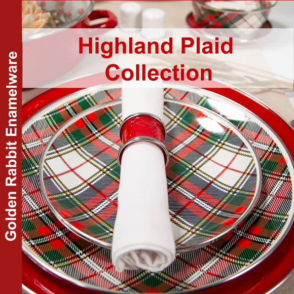 Highland Plaid Enamelware Collection by Golden Rabbit