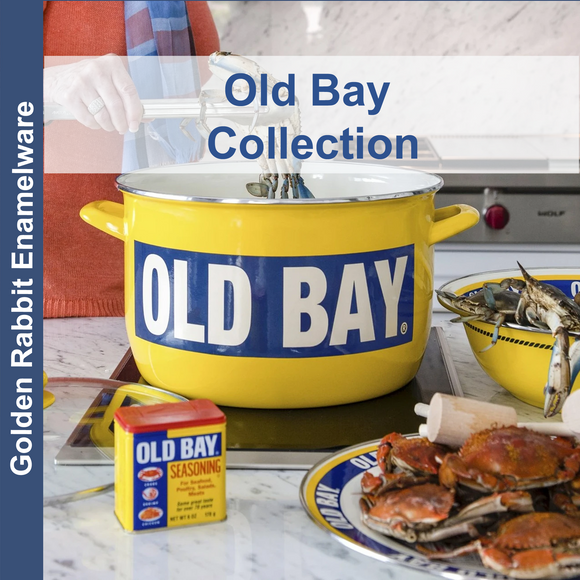 Old Bay Enamelware Collection by Golden Rabbit