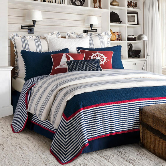 Prescott Navy Bedding Collection by HiEnd Accents
