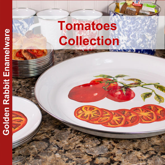 Tomatoes Pattern - Enamelware by Golden Rabbit