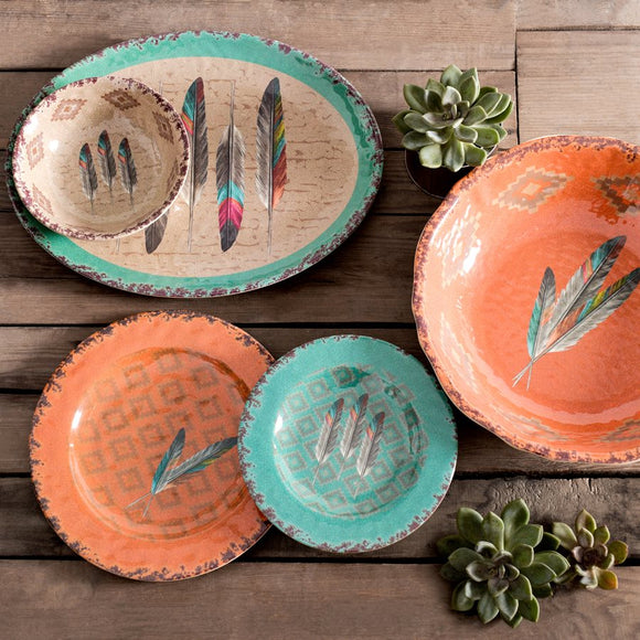 Feather Melamine Collection by HiEnd Accents