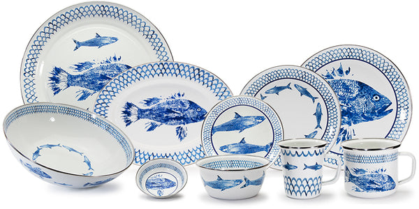 Fish Camp Enamelware Collection by Golden Rabbit