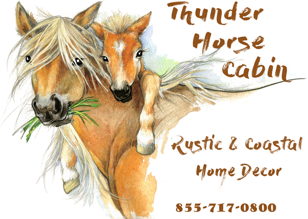 Rustic Home Decor - Thunder Horse Cabin