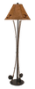 12R13A - Iron 3 Fishing Pole - 62.5 Inch Rustic Floor Lamp - ThunderHorseCabin.com