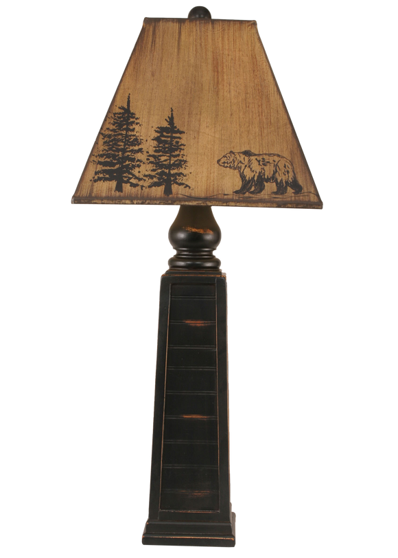 12R19A - Pyramid -33.5 Inch Rustic Table Lamp - ThunderHorseCabin.com