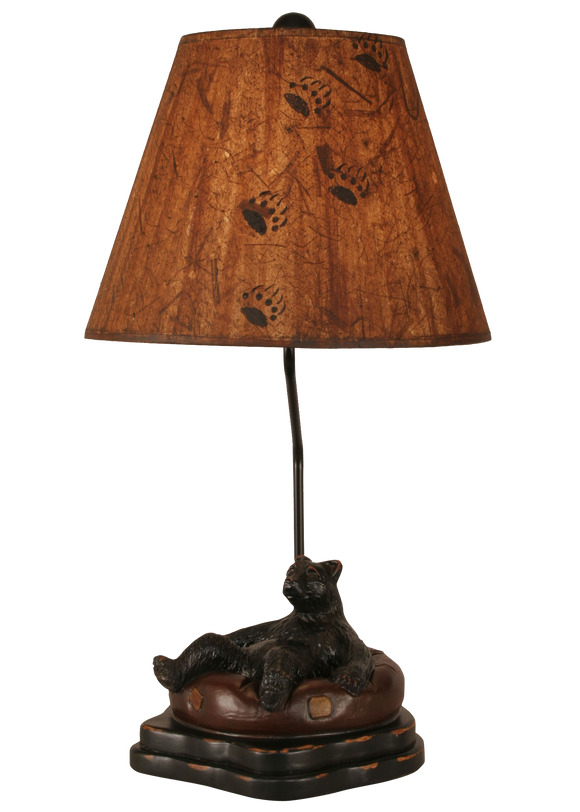 12R19D - Bear Inner Tube - 25 Inch Rustic Table Lamp - ThunderHorseCabin.com