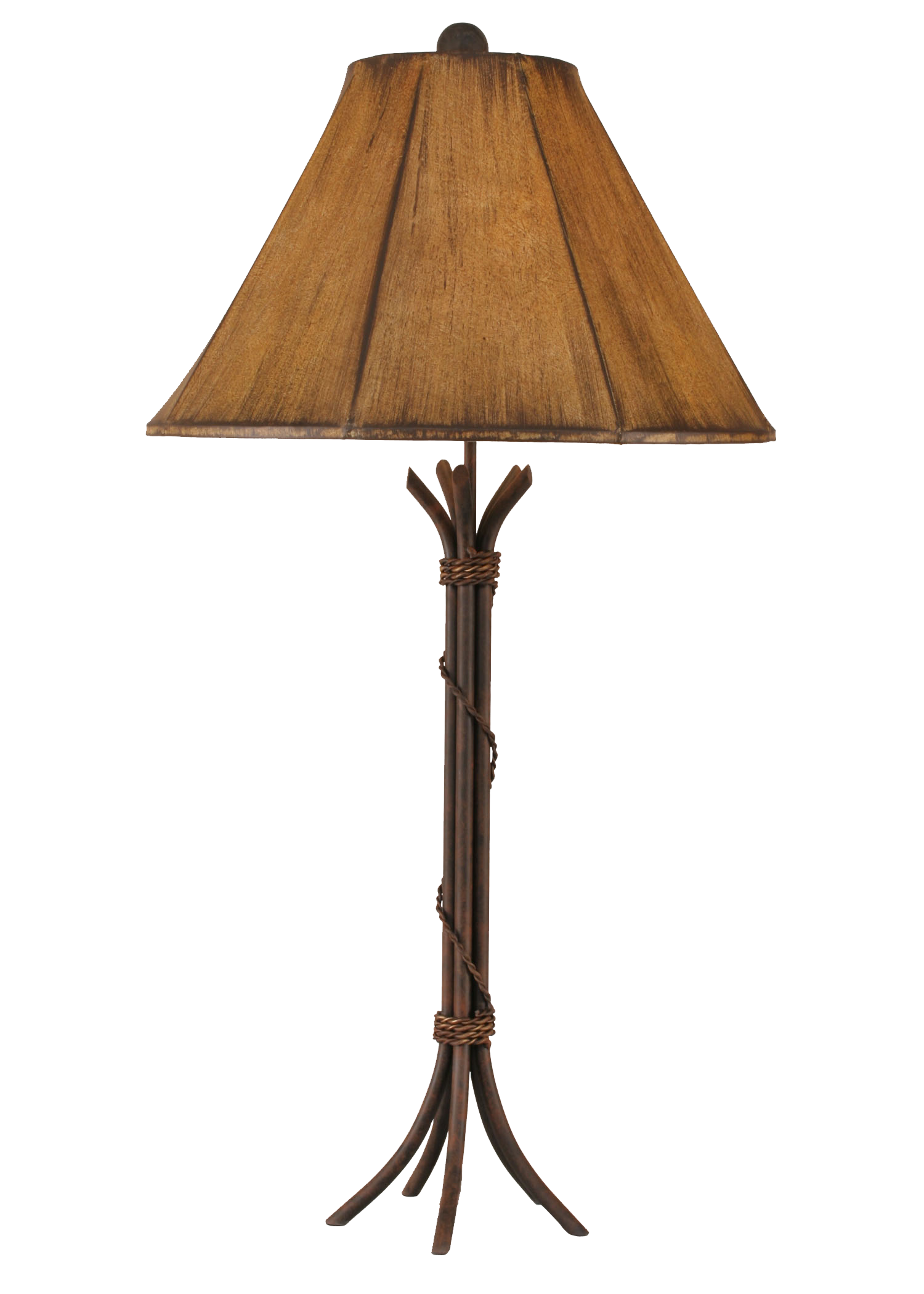 12R30D - Braided Wire - 32.5 Inch Rustic Table Lamp - ThunderHorseCabin.com