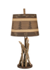 12R36D - Stick Brown Shade - 24 Inch Rustic Accent Lamp - ThunderHorseCabin.com