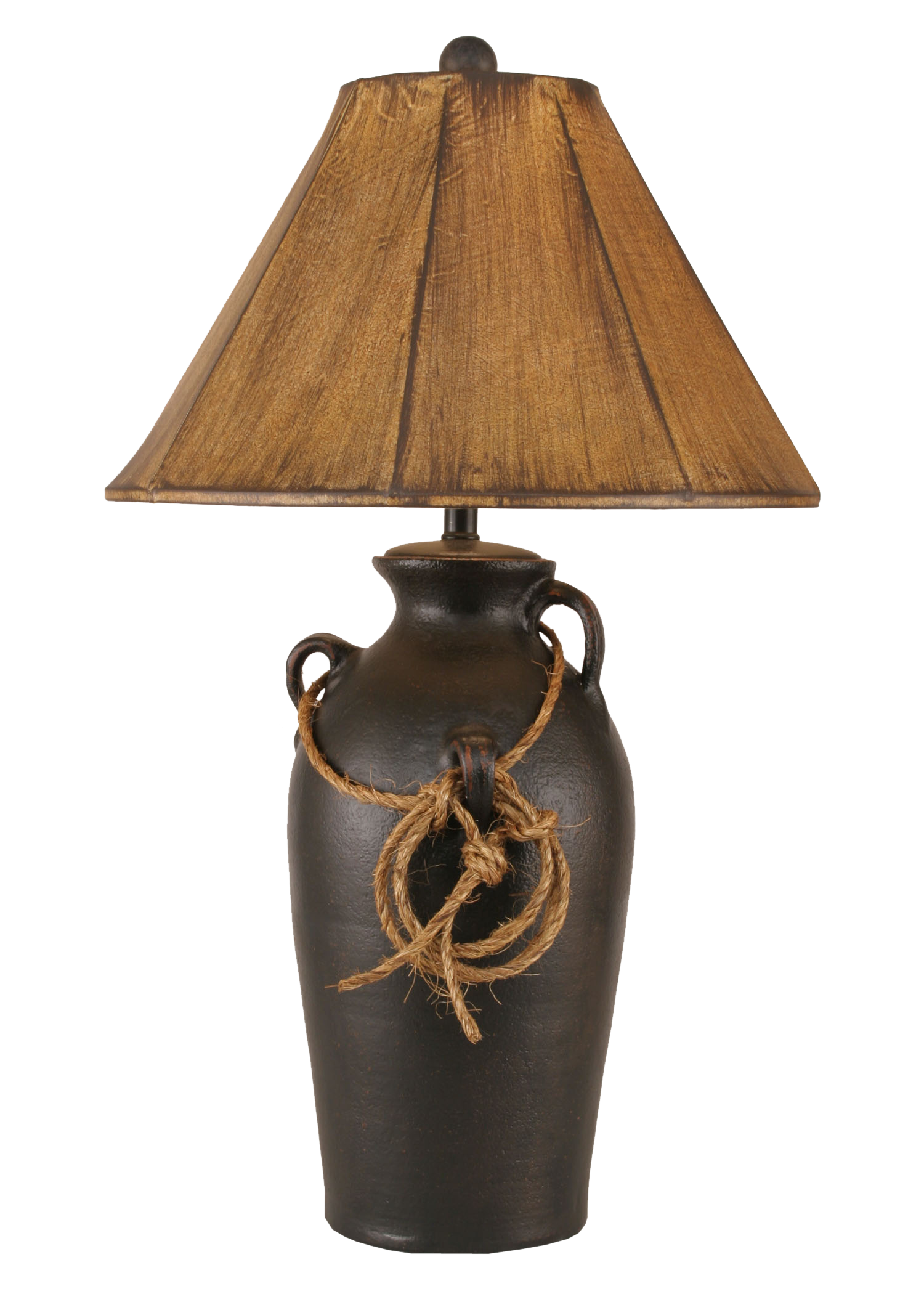 12R43A - 3 Handle Lasso - 30 Inch Western Table Lamp - ThunderHorseCabin.com