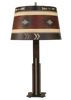 12R46D - Aztech Red Southwest - 30 Inch Tall Western Table Lamp - ThunderHorseCabin.com