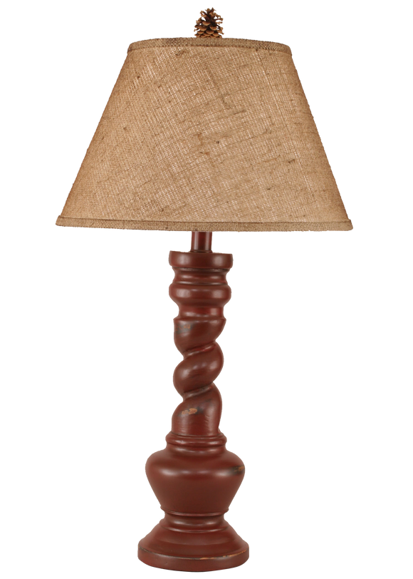 12R4A - Pedestal Twist - 31 Inch Country Table Lamp - ThunderHorseCabin.com