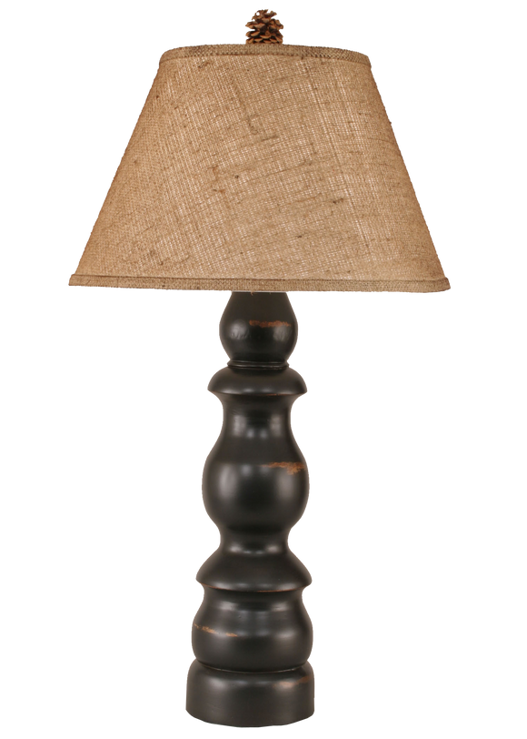 12R4B - Pedestal - 32 Inch Country Table Lamp - ThunderHorseCabin.com