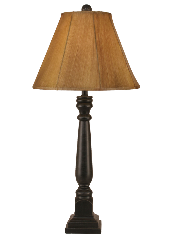 12R5A - Square Pedestal - 31 Inch Country Buffet Lamp - ThunderHorseCabin.com