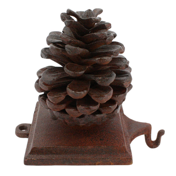 1570-1 - Stocking Holder Pinecone - Cast Iron - Rust by HomArt