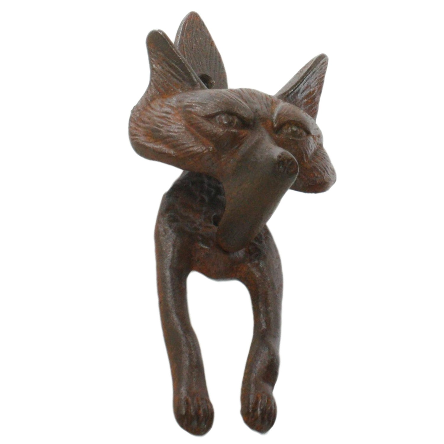 1608-1 - Fox Door Knocker - Cast Iron - Rust by HomArt